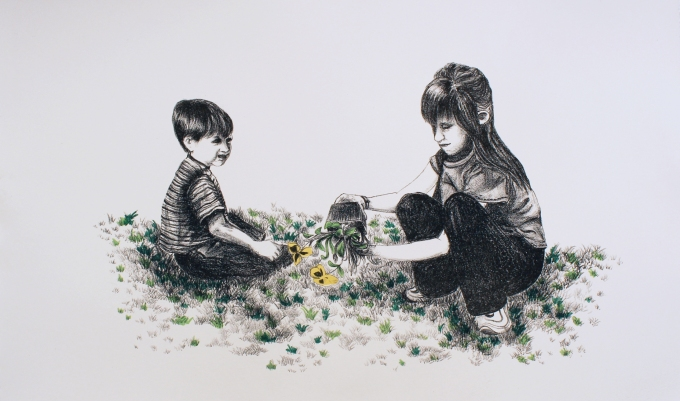 Grow lithograph with sharpography