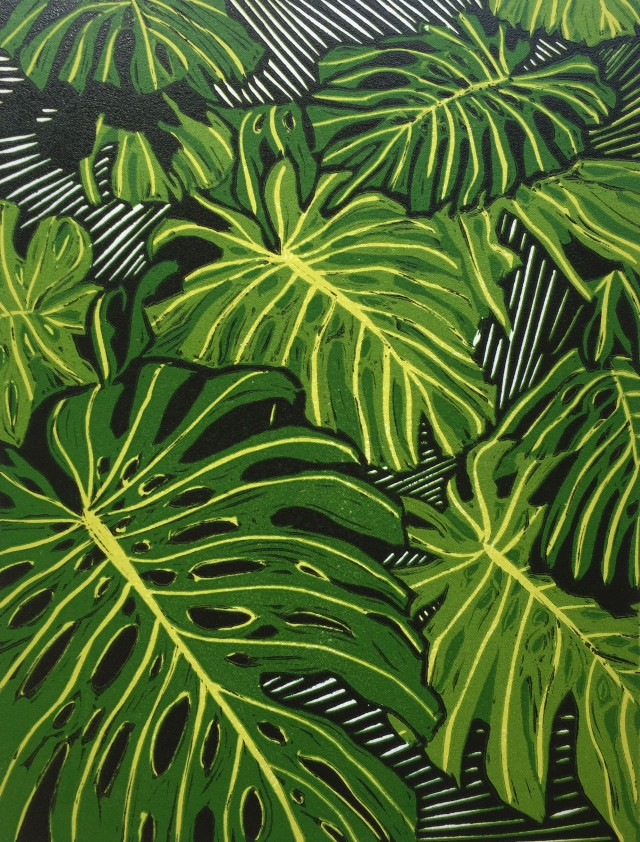monstera reduction lino bleed