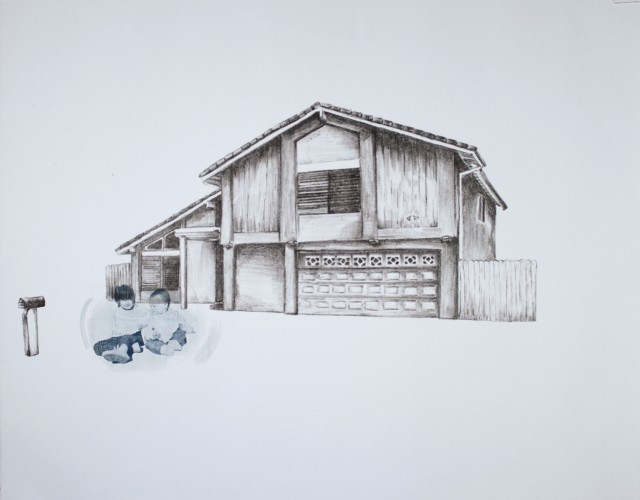 6563 Bayberry St. with Cyanotype