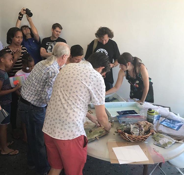 cyanotype workshop at zinefest 18