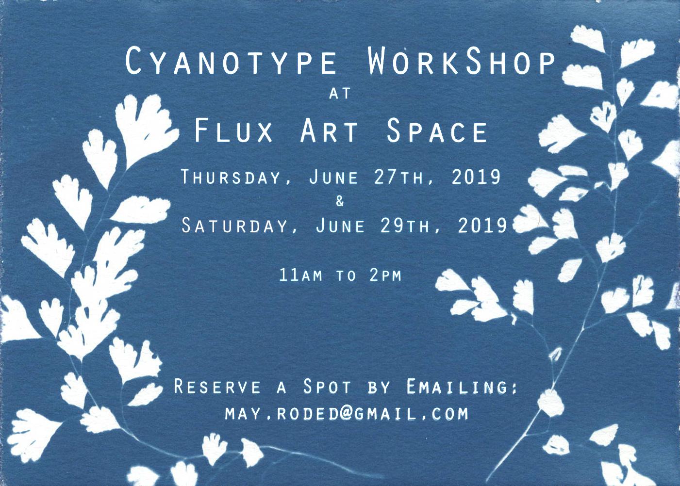 Flux Cyanotype Flyer